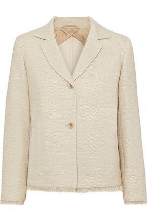 MAX MARA Viadana frayed cotton-blend tweed blazer