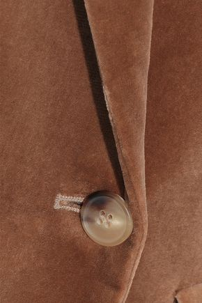 MAX MARA Brera double-breasted cotton-blend velvet blazer