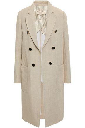 VANESSA BRUNO Inola button-embellished linen coat