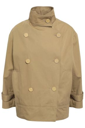 VANESSA BRUNO Idalko double-breasted cotton-gabardine jacket