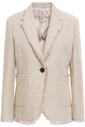 VANESSA BRUNO Denver frayed linen-canvas blazer