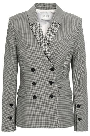 HOUSE OF DAGMAR Double-breasted gingham woven blazer