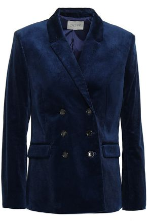 HOUSE OF DAGMAR Double-breasted cotton-blend corduroy blazer