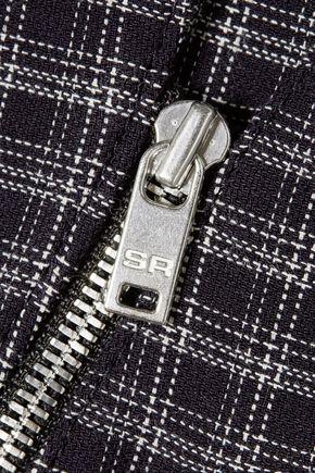SONIA RYKIEL Zip-detailed checked crepe blazer
