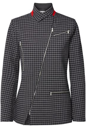 1234486f2a7 SONIA RYKIEL Zip-detailed checked crepe blazer