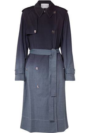 SONIA RYKIEL Dégradé checked wool trench coat