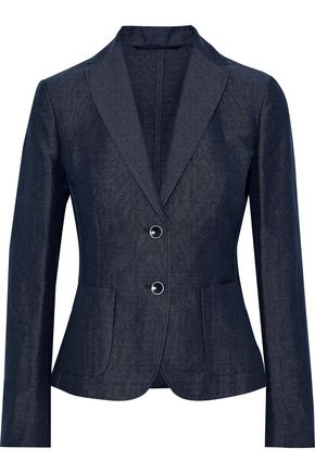 MAX MARA Terra linen and cotton-blend piqué blazer