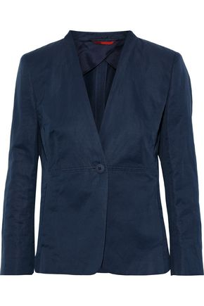 MAX MARA Helga cotton and ramie-blend blazer