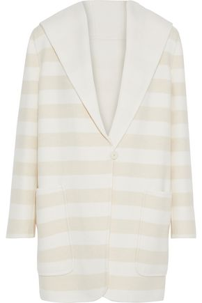 MAX MARA Arte reversible striped wool and cashmere-blend hooded coat