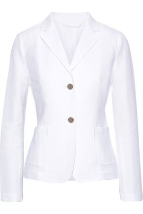 MAX MARA Spadino cotton and linen-blend blazer