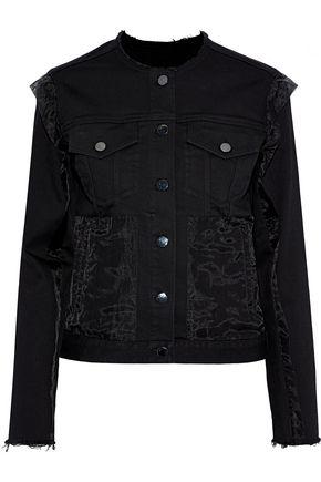 J BRAND Organza-paneled denim jacket