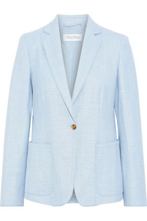 MAX MARA Emy Stuoia silk, linen and wool-blend blazer
