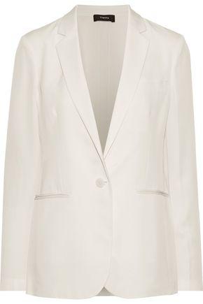 THEORY Grinson silk-charmeuse blazer