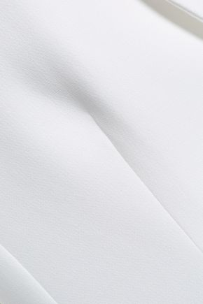 CINQ À SEPT Ruffle-trimmed crepe blazer
