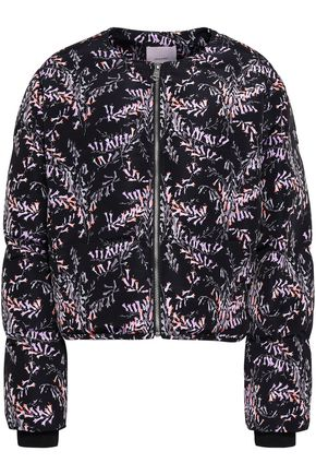 CINQ À SEPT Printed shell bomber jacket