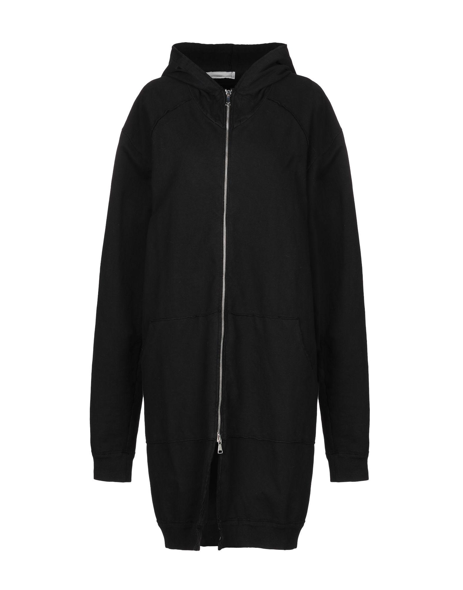 《セール開催中》NOSTRASANTISSIMA レディース スウェットシャツ ブラック L コットン 95% / ポリウレタン 5%
