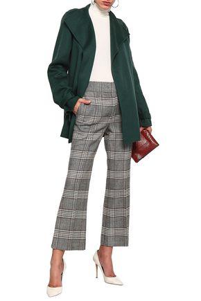 Joseph Woman Wool And Cashmere-Blend Felt Coat Emerald
