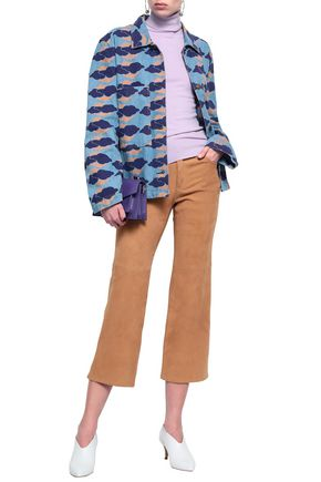 ACNE STUDIOS Appliquéd printed denim jacket
