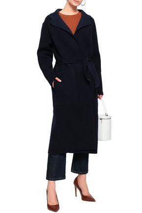 Joseph Woman Belted Wool-Blend Coat Navy