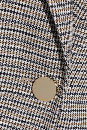 PRABAL GURUNG Fluted houndstooth jacquard blazer