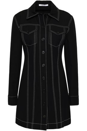 DEREK LAM 10 CROSBY Cotton-blend twill mini shirt dress