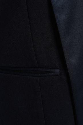 EMPORIO ARMANI Satin-paneled jersey vest
