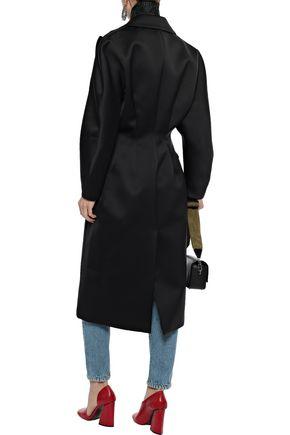 CHRISTOPHER KANE Double-breasted duchesse-satin coat