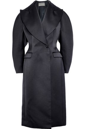 CHRISTOPHER KANE Double-breasted duchesse-satin coat