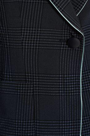 EMPORIO ARMANI Prince of Wales checked wool-blend blazer