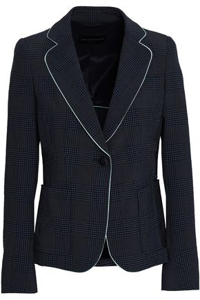 EMPORIO ARMANI Prince of Wales checked wool-blend blazer