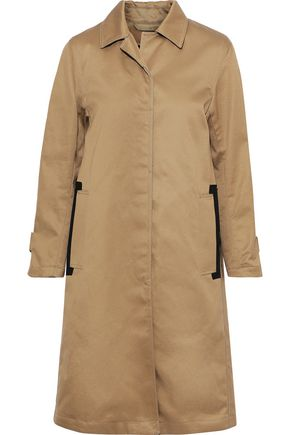 MACKINTOSH Faux leather-trimmed cotton-twill coat