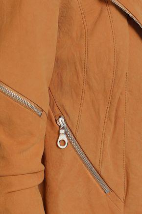 KITX Crinkled suede biker jacket
