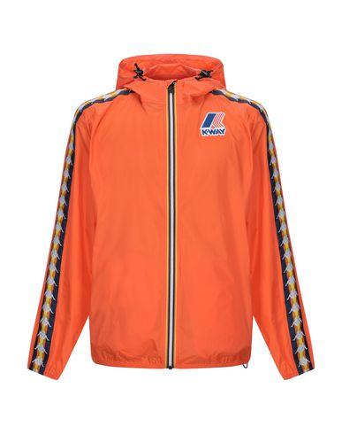 Фото - Мужскую куртку KAPPA x K-WAY оранжевого цвета