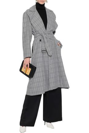 TOME Prince of Wales checked cotton-blend trench coat