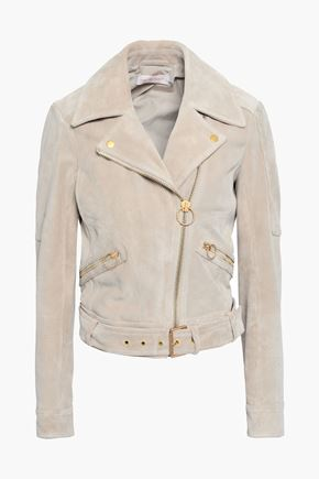 TORY BURCH Suede biker jacket