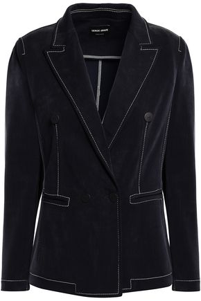 GIORGIO ARMANI Double-breasted knitted blazer