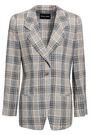GIORGIO ARMANI Checked linen blazer