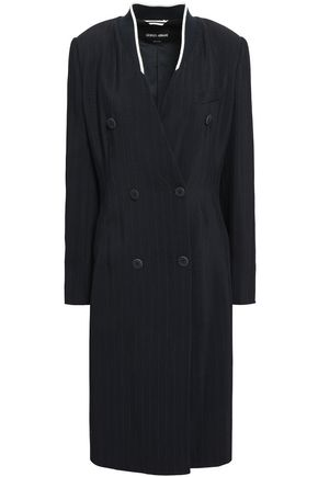 GIORGIO ARMANI Double-breasted twill coat