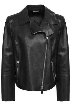 GIORGIO ARMANI Leather biker jacket