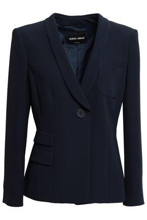 GIORGIO ARMANI Silk-crepe blazer