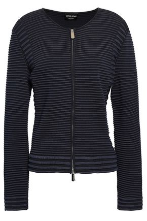 GIORGIO ARMANI Ribbed-knit jacket