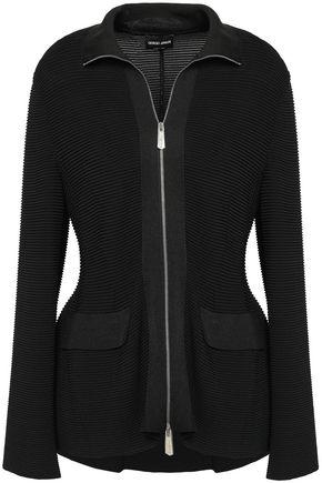 GIORGIO ARMANI Ribbed jersey jacket