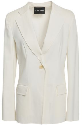 GIORGIO ARMANI Stretch wool and silk-blend blazer