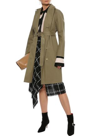 MACKINTOSH Double-breasted bonded cotton trench coat