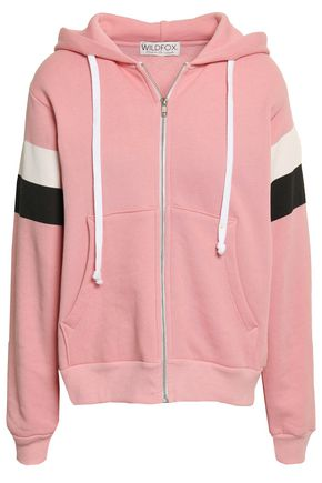 WILDFOX Cotton-blend hooded jacket