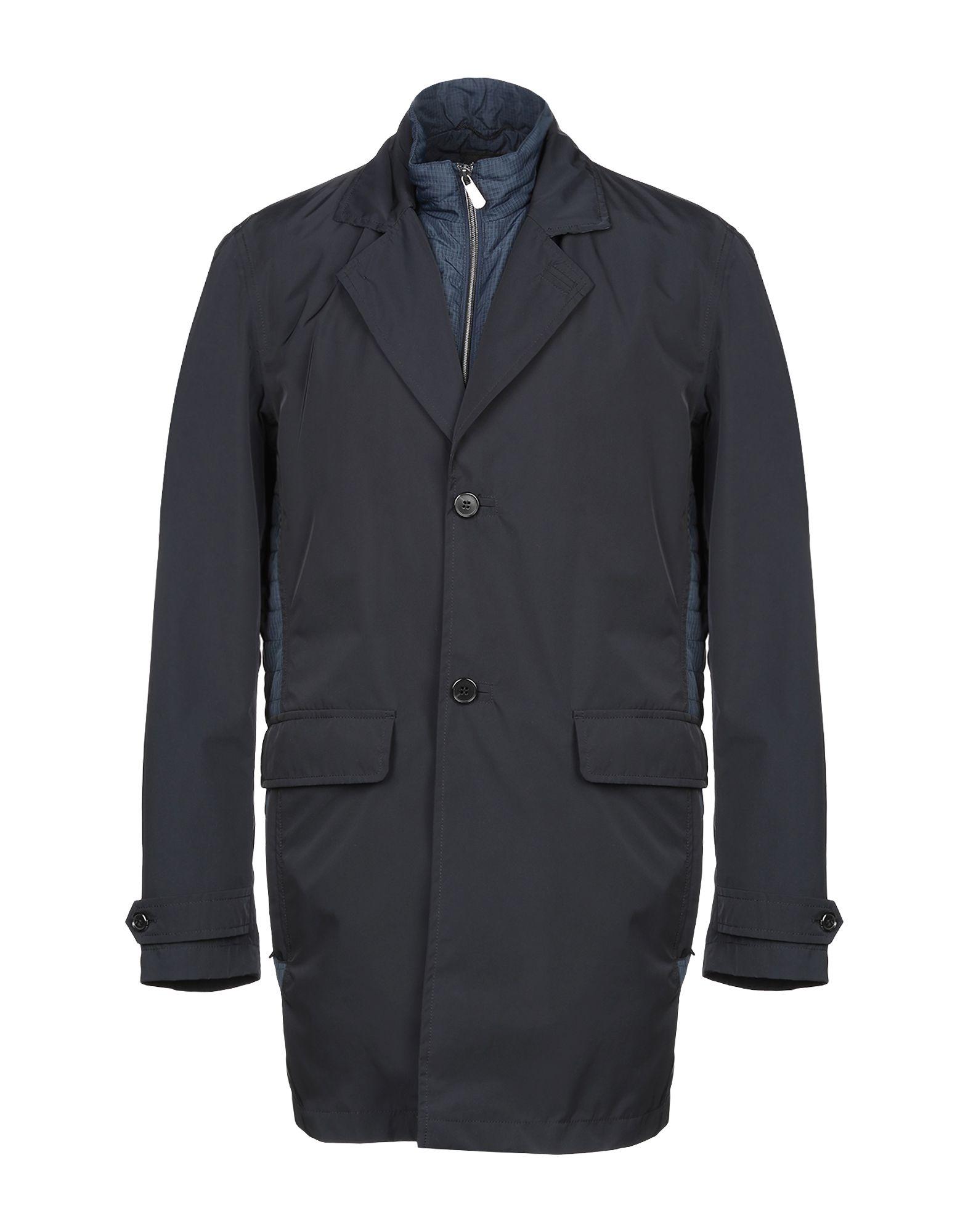 《セール開催中》ROY ROBSON メンズ ライトコート ダークブルー 48 ポリエステル 100%