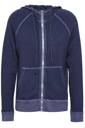 SUNDRY Embroidered French terry hooded jacket