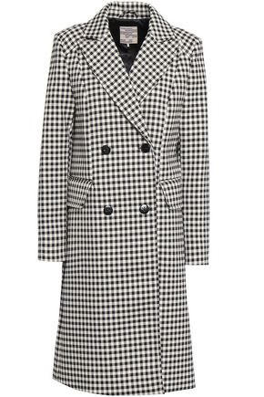 BAUM UND PFERDGARTEN Double-breasted gingham twill coat