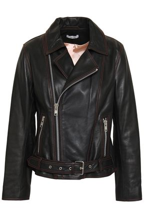 GANNI Leather biker jacket