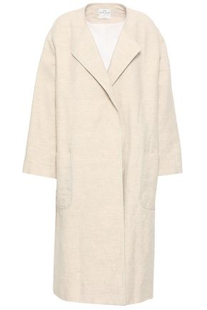 FORTE_FORTE Mélange cotton and linen-blend coat